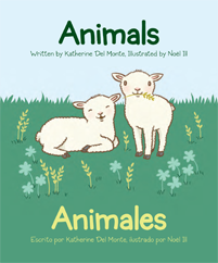 Children's Bilingual Book -- Baby Talk Bilingual Board Books Animals
