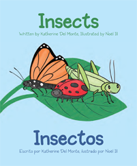Children's Spanish English Book -- Baby Talk Bilingual Board Books Insects